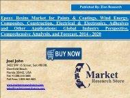 Global Epoxy Resins Market worth USD 10.5 Billion by 2020