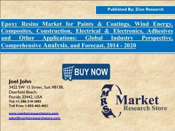 Global Epoxy Resins Market worth USD 10.5 Billion by 2020