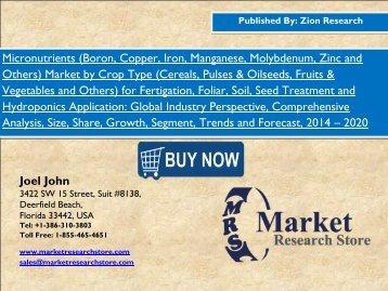 Global Micronutrients Market worth USD 7.75 Billion By 2020