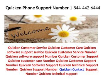 Quicken Phone Number 1-844-442-6444