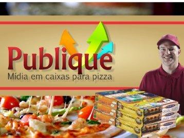 PROPAGANDA EM CAIXA DE PIZZA