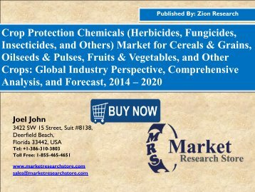 Global Crop Protection Chemicals Market Rolling at 5.5% CAGR by 2020