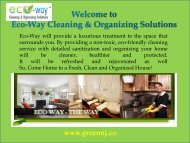 Cleaning Agency Montclair|Eco-Way Cleaning & Organizing Solutions