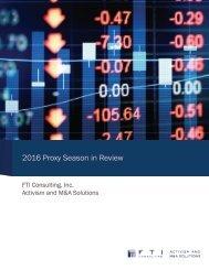 2016 Proxy Season in Review
