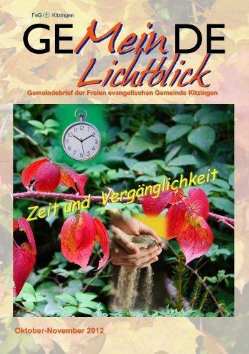 Zeit und Vergänglichkeit - FeG Kitzingen