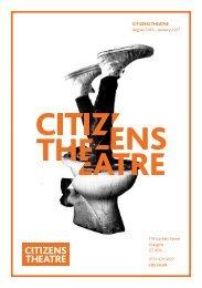 Citizens Theatre Autumn 2016 Brochure