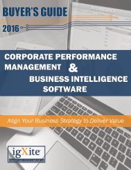 Business Intelligence Buyer's Guide