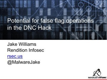 in the DNC Hack
