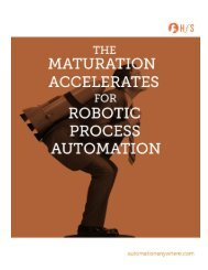 THE MATURATION ACCLERATES FOR ROBOTIC PROCESS AUTOMATION