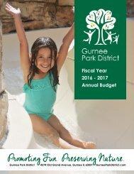 Gurnee Park District 2016-2017 Annual GFOA Budget
