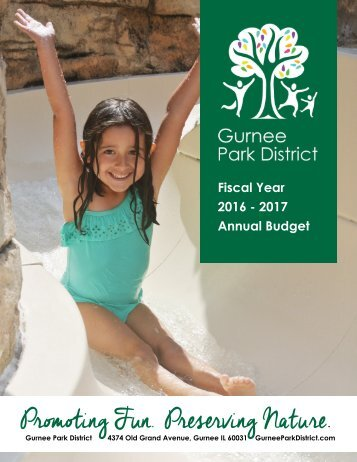 Gurnee Park District 2016-2017 Annual GFOA Budget