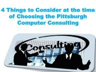 4 Things to Consider at the time of Choosing the Pittsburgh Computer Consulting