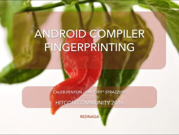 ANDROID COMPILER FINGERPRINTING