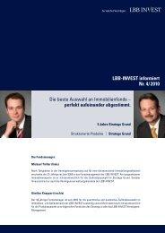 LBB-INVEST informiert Nr. 4/ 2010 Die beste Auswahl an ...