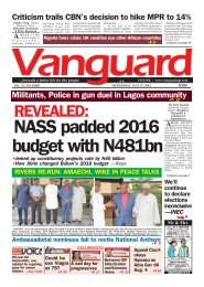 REVEALED: NASS padded 2016 budget with N481bn