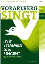 """""""Wir stiMMen fürs singen"""" - Chorverband Vorarlberg"""