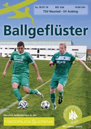 Stadionzeitung 1617 1 Spieltag