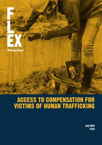 ACCESS TO COMPENSATION FOR VICTIMS OF HUMAN TRAFFICKING