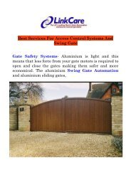 Best Services For Access Control Systems And Swing Gate
