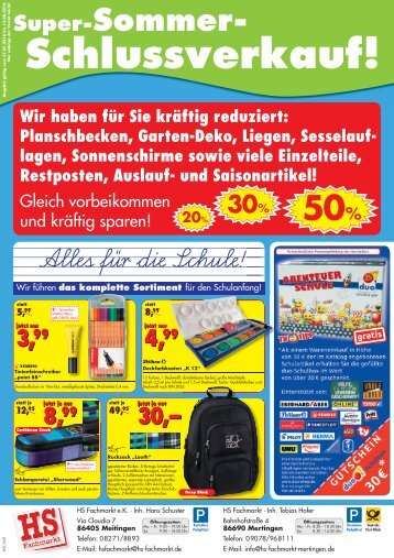 HS Fachmarkt Meitingen & Mertingen - 07/2016