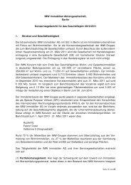 Konzernbericht 2010 / 2011 - IMW Immobilien SE