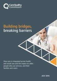 Building bridges breaking barriers
