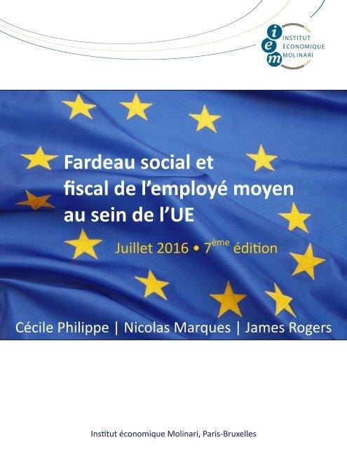 Fardeau social et fiscal de l'employé moyen au sein de l'UE