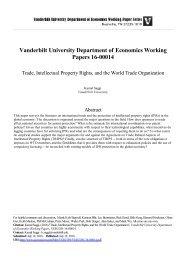 Vanderbilt University Department of Economics Working Papers 16-00014