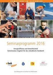 Seminarprogramm Energie Umwelt Schwaben 2016