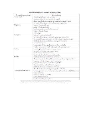 17-Cuadro Actividades para Identificar Señales de Fraude