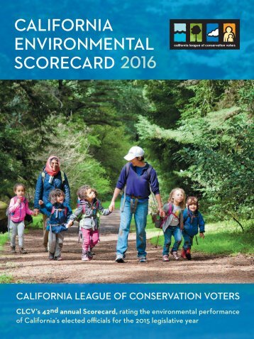 CALIFORNIA ENVIRONMENTAL SCORECARD 2016