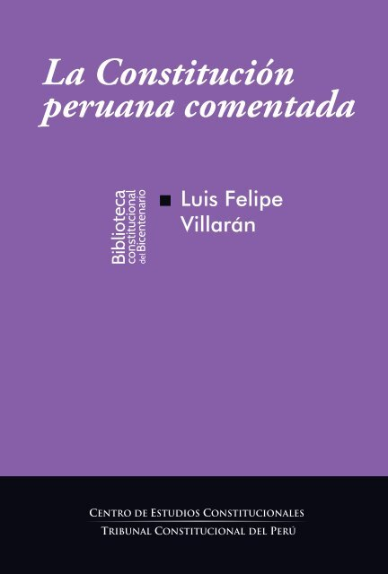 La Constitución Peruana Comentada