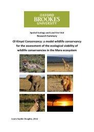 The Ecological Viability of Kenya's Wildlife Conservancies (Summary)