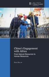 China's Engagement with Africa