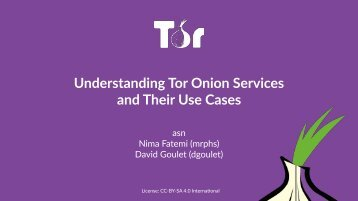 Understanding Tor Onion Services and Their Use Cases