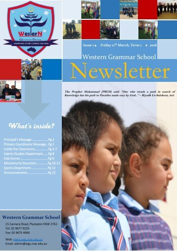 Newsletter 2016 Term 1