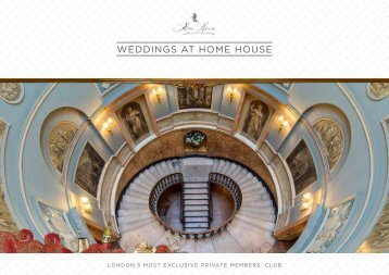 WEDDINGS AT HOME HOUSE