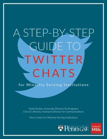 A STEP-BY-STEP GUIDE TO TWITTER CHATS