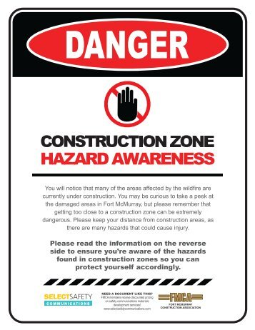 FMCA - Construction Zone Hazard Awareness Adult Pamphlet