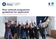 Peer network programme guidelines for applicants
