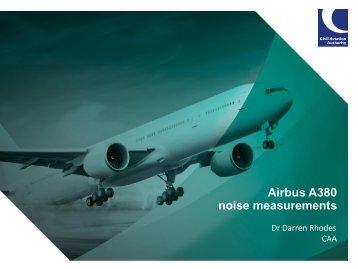 Airbus A380 noise measurements