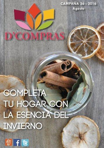 Catálogo D'Compras Agosto 2016