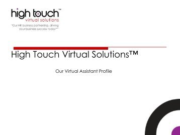 Company Profile_High Touch Virtual Solutions 2016