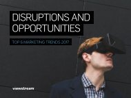 DISRUPTIONS AND OPPORTUNITIES