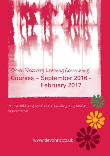 Courses ~ September 2016 - February 2017
