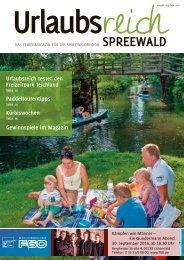 Ferienmagazin Urlaubsreich Spreewald, Ausgabe August bis September 2016