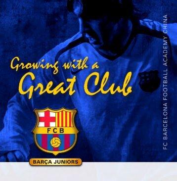 Broschüre Barca Juniors