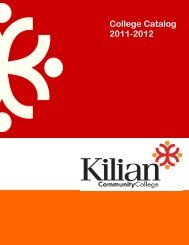 College Catalog 2011-2012 - Kilian Community College