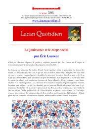 La jouissance et le corps social par Éric Laurent