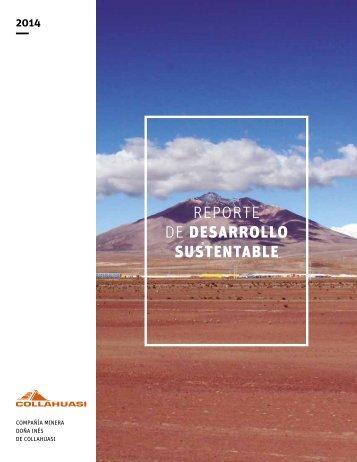 REPORTE DE DESARROLLO SUSTENTABLE